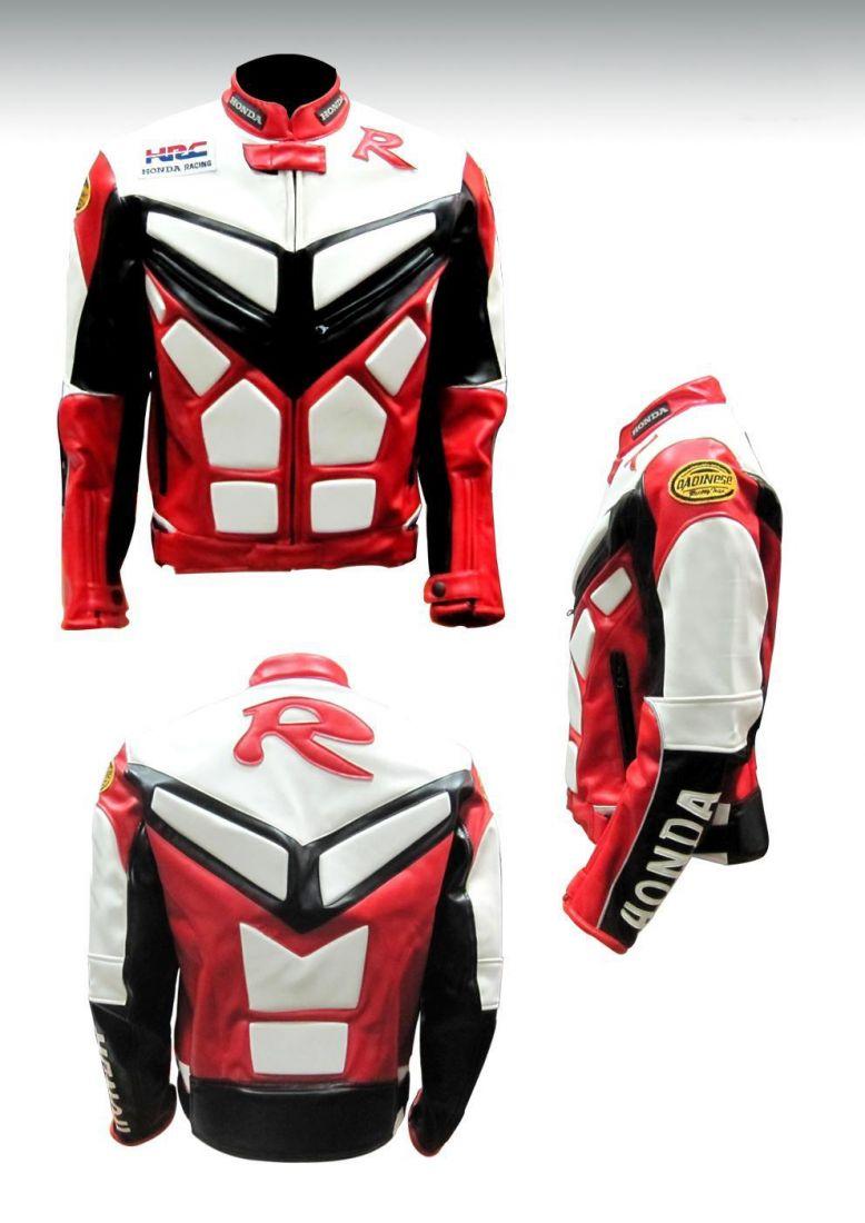 Мотокуртка PU Honda RC (красный-белый)