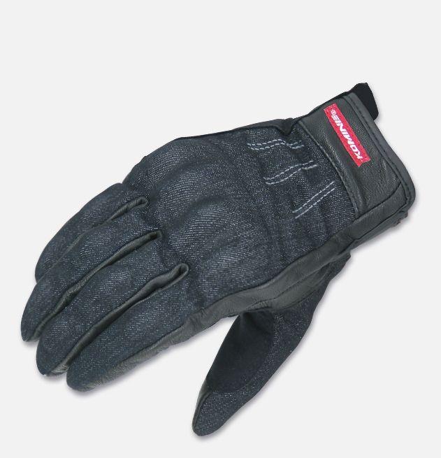 Мотоперчатки Komine GK-118 (черный, синий)