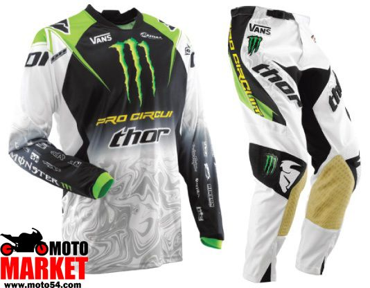 Комплект для мотокросса Kawasaki monster Energy THOR 2011