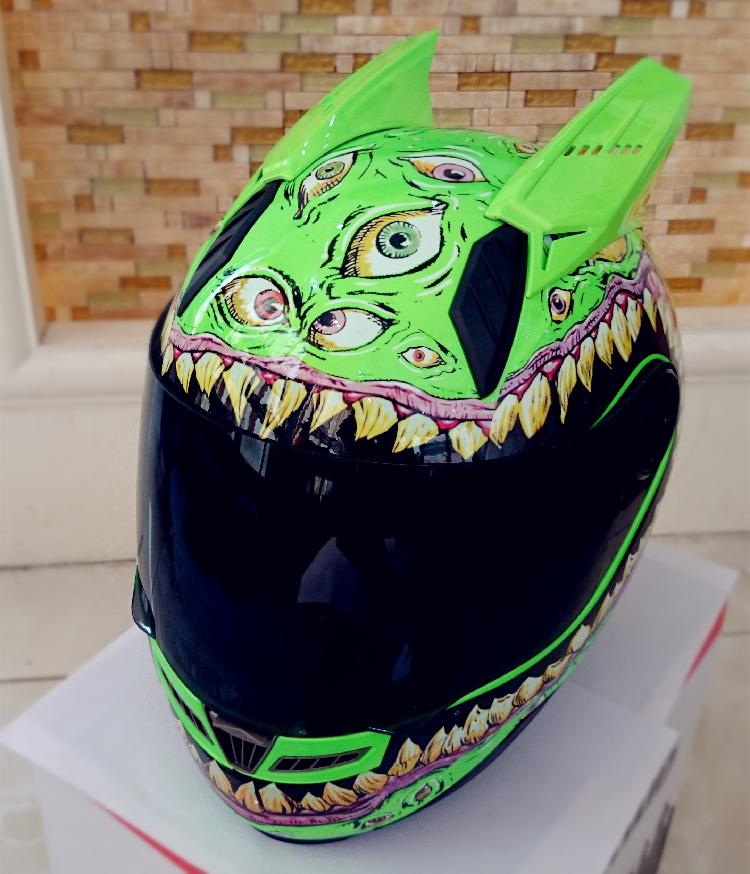 Мотошлем Marushin (интеграл) Luminous Eyes Green